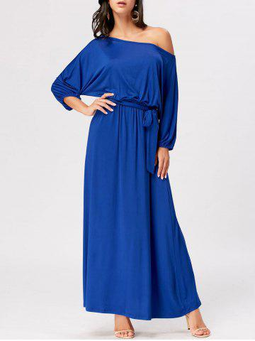 Outfit Boat Neck Maxi Party Dress - 2XL ROYAL Mobile