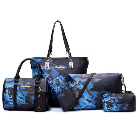 Affordable Floral Print 6 Pieces Shoulder Bag Set