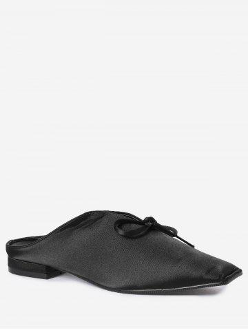 Outfits Satin Square Toe Bowknot Slippers