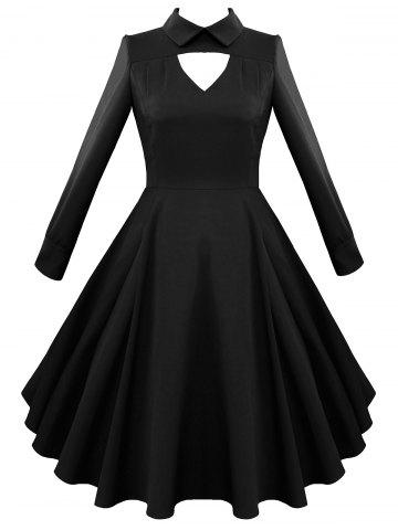 Trendy Vintage Keyhole A Line Dress