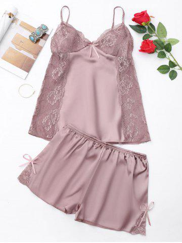 New Summer Lace Panel Cami PJ Set