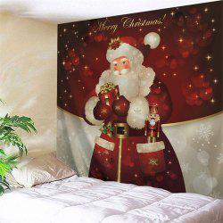 Christmas Gift Tapestry Santa Claus Wall Hanging - DEEP RED W59 INCH * L51 INCH