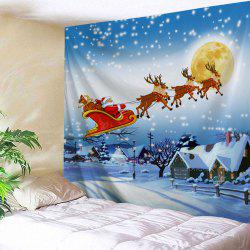 Christmas Village Print Tapestry Wall Hanging Art Decoration -