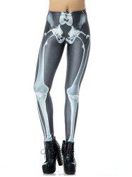 3D Bone Print Halloween Leggings -
