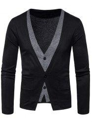 Manteau Faux Twinset Button Up Cardigan - Noir S