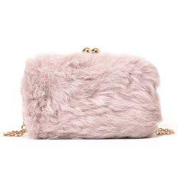 Chain Faux Fur Crossbody Bag -