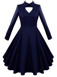 Vintage Keyhole A Line Dress -