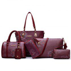 Floral Print 6 Pieces Shoulder Bag Set -