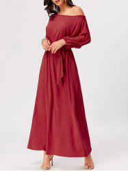 Boat Neck Maxi Party Dress -