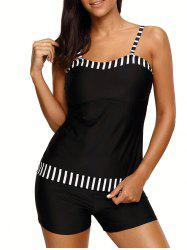 Push Up Striped Tankini Set -