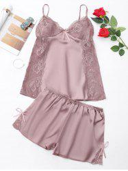 Summer Lace Panel Cami PJ Set -