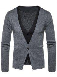 Manteau Faux Twinset Button Up Cardigan -