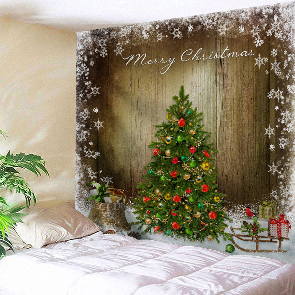 Christmas Tree Print Tapestry Wall Hanging Art DecorationHOME<br><br>Size: W59 INCH * L59 INCH; Color: COLORMIX; Style: Festival; Theme: Christmas; Material: Polyester; Feature: Washable; Shape/Pattern: Plant; Weight: 0.2300kg; Package Contents: 1 x Tapestry;