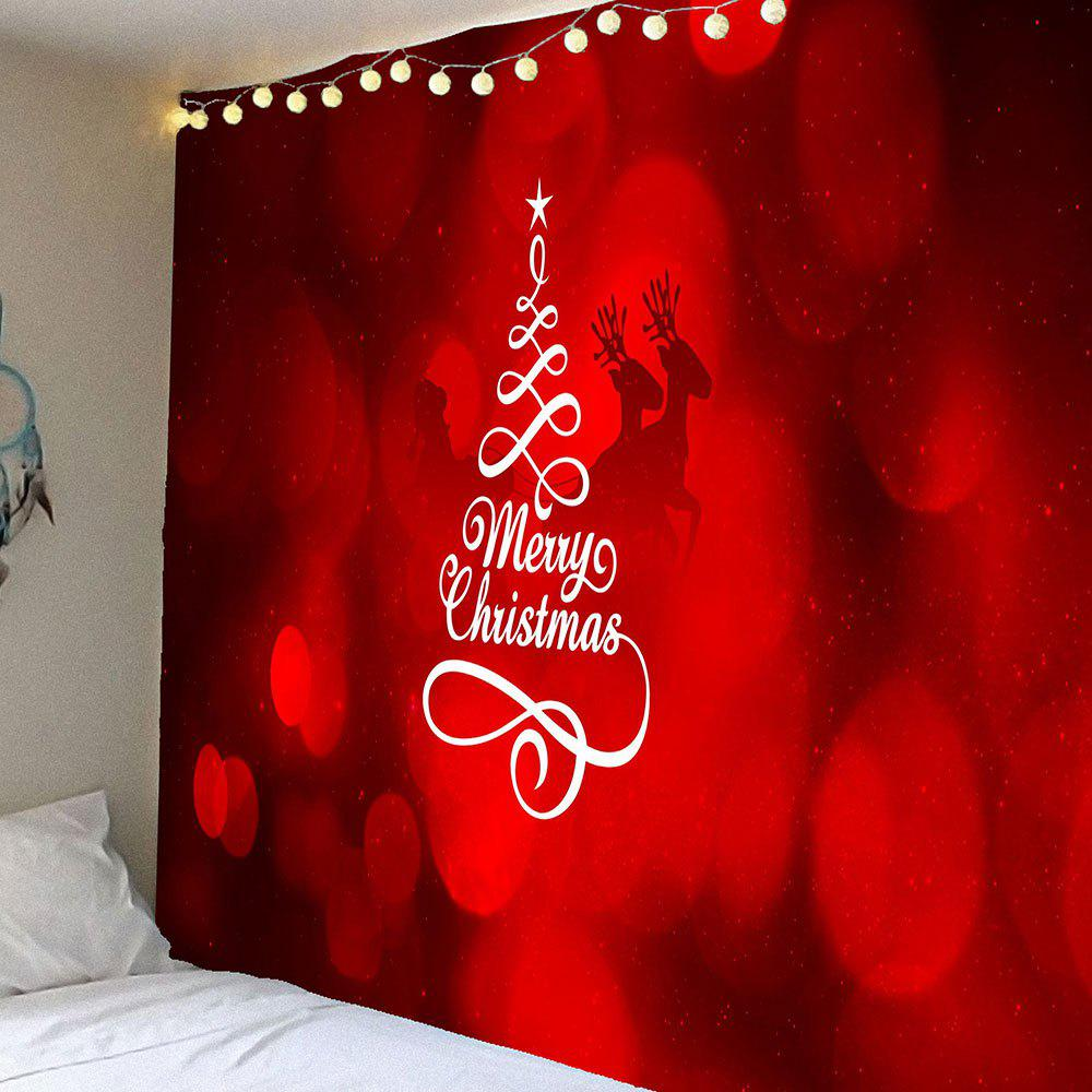 Waterproof Merry Christmas Printed Wall Hanging TapestryHOME<br><br>Size: W59 INCH * L51 INCH; Color: RED; Style: Festival; Theme: Christmas; Material: Velvet; Feature: Removable,Washable,Waterproof; Shape/Pattern: Letter; Weight: 0.2100kg; Package Contents: 1 x Tapestry;