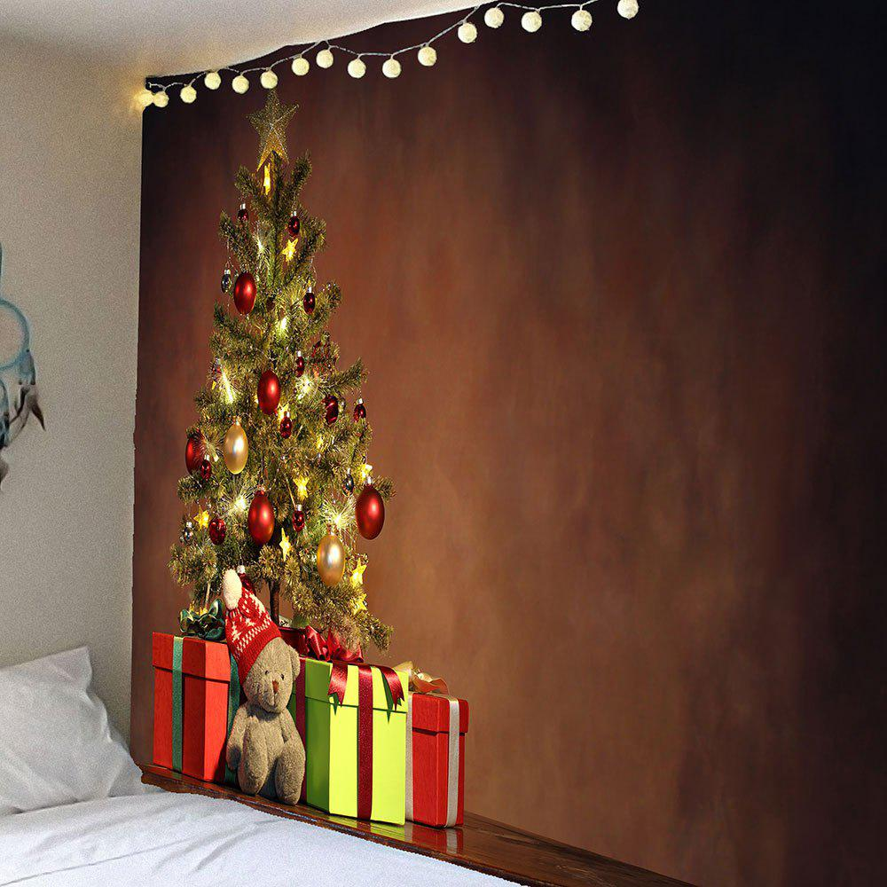 Christmas Tree Printed Waterproof Wall Art TapestryHOME<br><br>Size: W91 INCH * L71 INCH; Color: COLORFUL; Style: Festival; Theme: Christmas; Material: Velvet; Feature: Removable,Washable,Waterproof; Shape/Pattern: Tree; Weight: 0.4200kg; Package Contents: 1 x Tapestry;