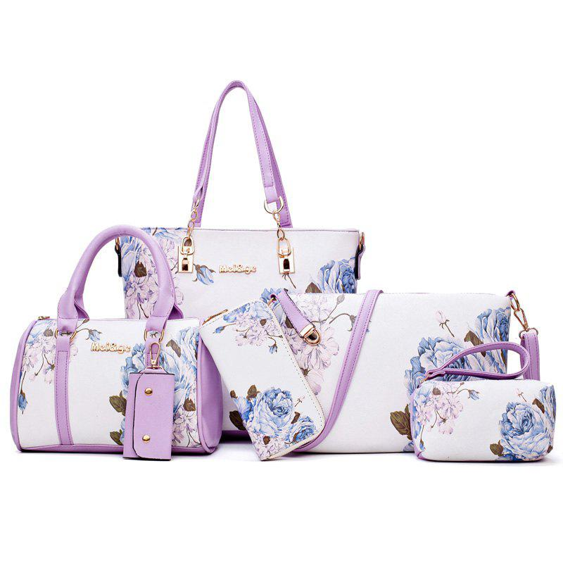 Unique Floral Print 6 Pieces Shoulder Bag Set