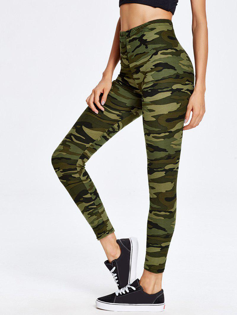 High Waist Camo Print Sport LeggingsWOMEN<br><br>Size: ONE SIZE; Color: CAMOUFLAGE; Style: Active; Length: Normal; Material: Polyester,Spandex; Fit Type: Skinny; Waist Type: High; Closure Type: Elastic Waist; Front Style: Flat; Pattern Type: Print; Pant Style: Pencil Pants; Elasticity: Elastic; Weight: 0.2300kg; Package Contents: 1 x Leggings;