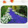 Flower Field Scenery 3Pcs Flannel Bath Toilet Mats Set -
