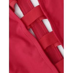 Strappy Bandage Swimsuit - RED M