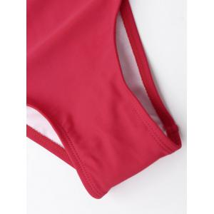 Strappy Bandage Swimsuit - RED XL