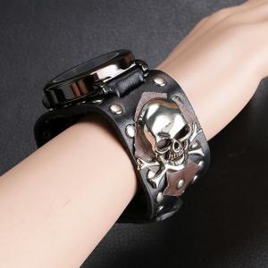 Gothic Style Skull Rivet Number Watch -