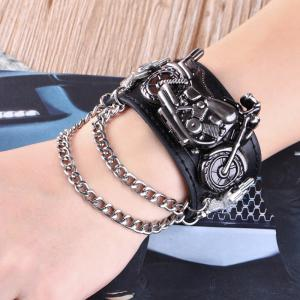 Gothic Style Motorcycle Number Quartz Watch -