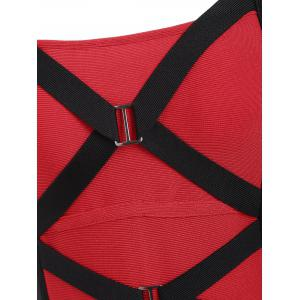 Robe Bandage Criss Cross Bandeau Color Block -