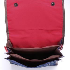 Nylon Color Block Backpack - RED