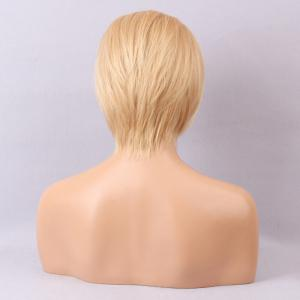 Incliné Bang Short Straight Bob Lace Front Hair Hair Wig -