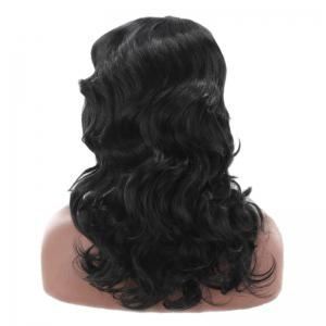 Center Parting Long Loose Wave Synthetic Wig - BLACK