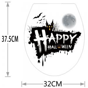 Happy Halloween Bathroom Wall Sticker - BLACK