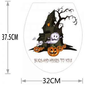 Halloween Pumpkin Castle Bathroom Wall Sticker -