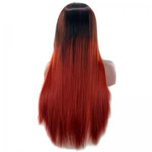 Long Center Parting Two Color Straight Synthetic Wig - COLORMIX