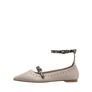 Buckle Strap Ankle Strap Stud Flats -