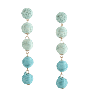 Ball Ethnic Drop Earrings - Vert