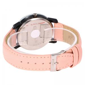 Spider Web Face Faux Leather Watch -