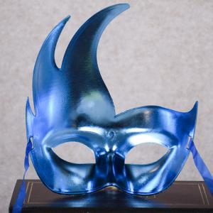 Halloween Party Flame Shape Mask - BLUE