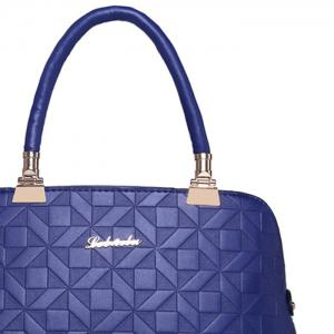 3 Pieces Metal Quilted Tote Bag Set -