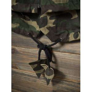 Pockets Hooded Camouflage Lightweight Coat - ARMY GREEN CAMOUFLAGE XL