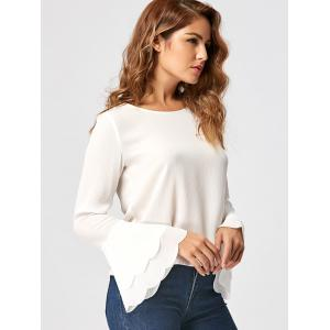 Layered Flare Sleeve Blouse -