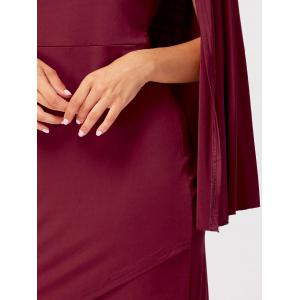 Mini Party Cape Dress -