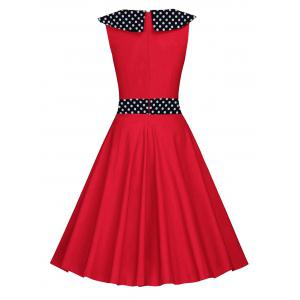 Vintage Polka Dot Fit and Flare Dress -