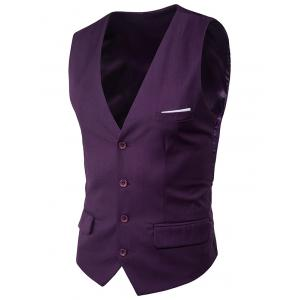 Satin Panel Single Breasted Belted Waistcoat -