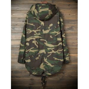 Pockets Hooded Camouflage Lightweight Coat -
