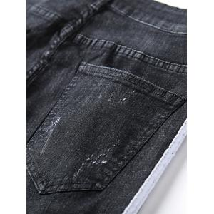 Selvedge Embellished Ripped Jeans -