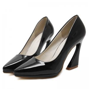 Strange Heel Point Toe Basic Pumps -