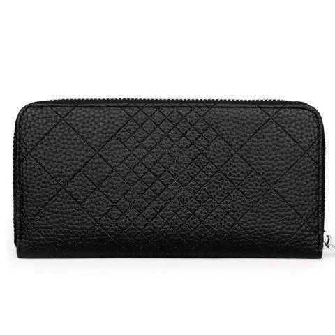 Discount Quilted PU Leather Clutch Wallet
