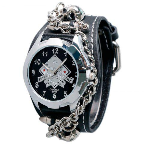 Affordable Gothic Style Chain Embellished Number Watch