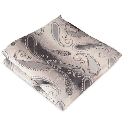 Paisley Jacquard Stripe Print Pocket Square