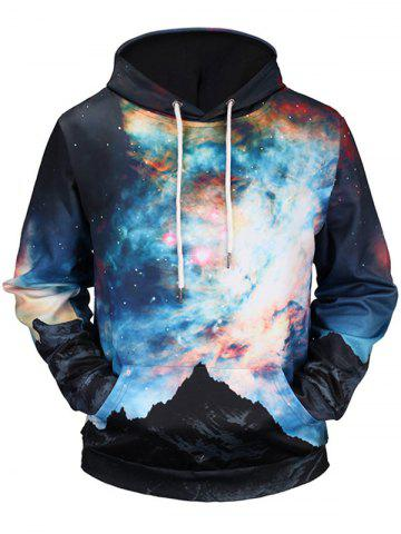 Discount Kangaroo Pocket Colorful Galaxy Hoodie - M COLORMIX Mobile